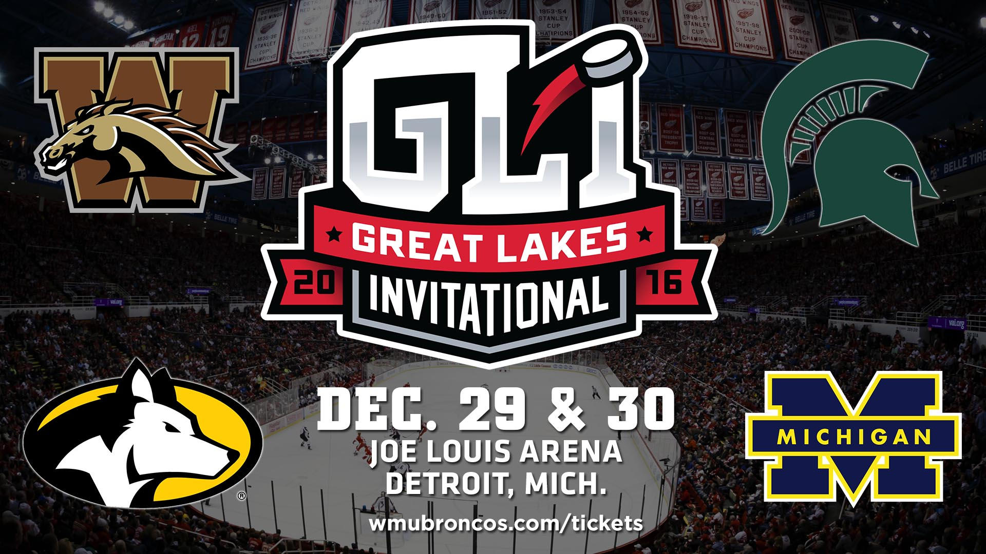 No. 16 Western Michigan Heads to the Great Lakes Invitational