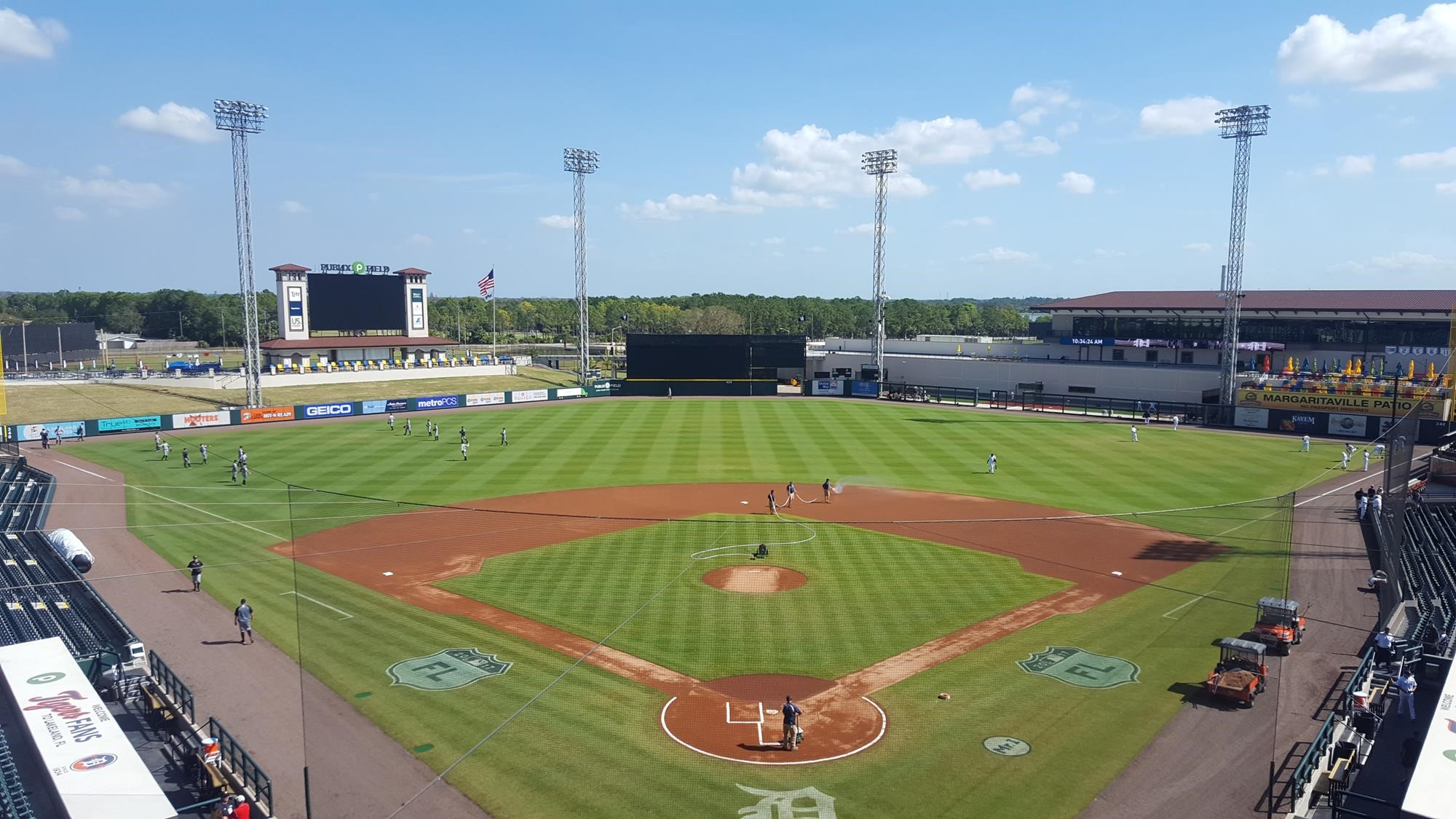 Detroit Tigers Top Broncos in Exhibition Game at Joker Marchant Stadium