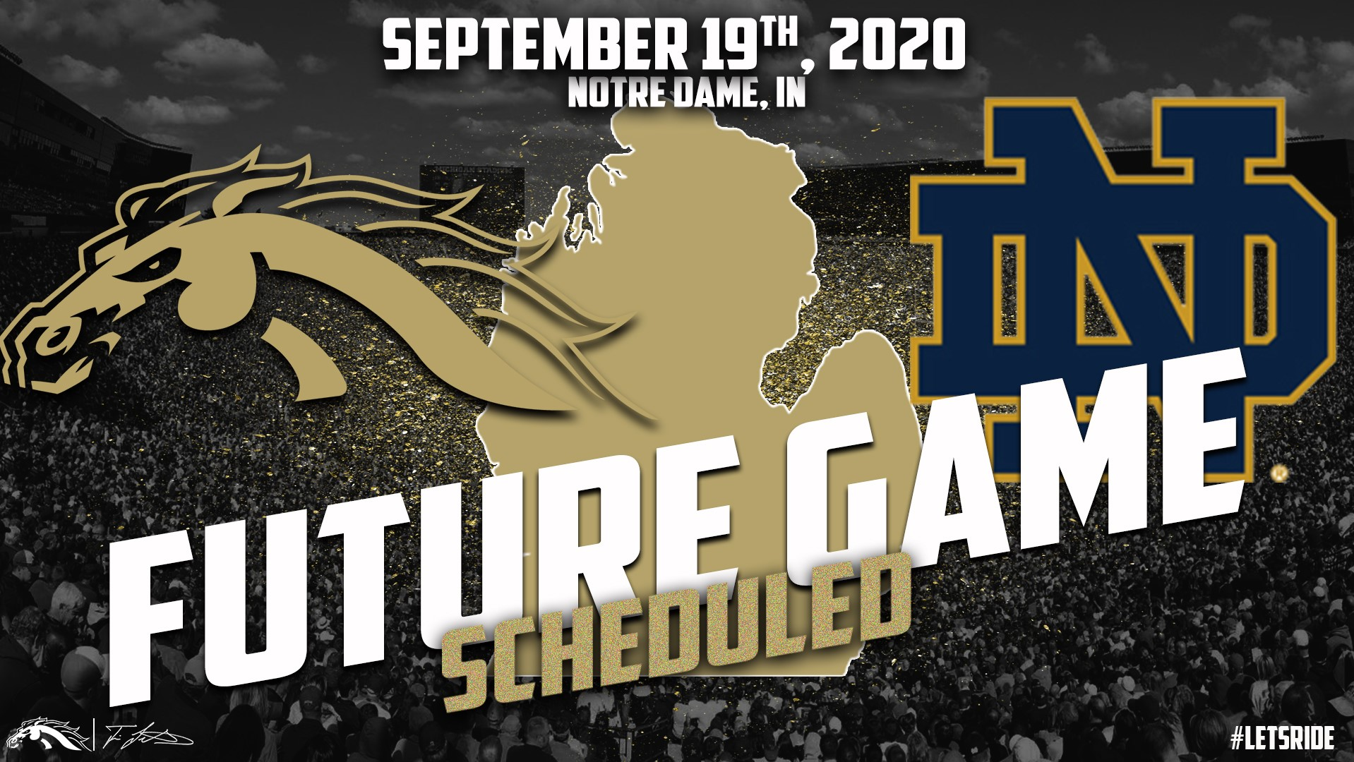 Notre Dame 2020 Football Schedule.Wmu Football Announces 2020 Game At Notre Dame Western
