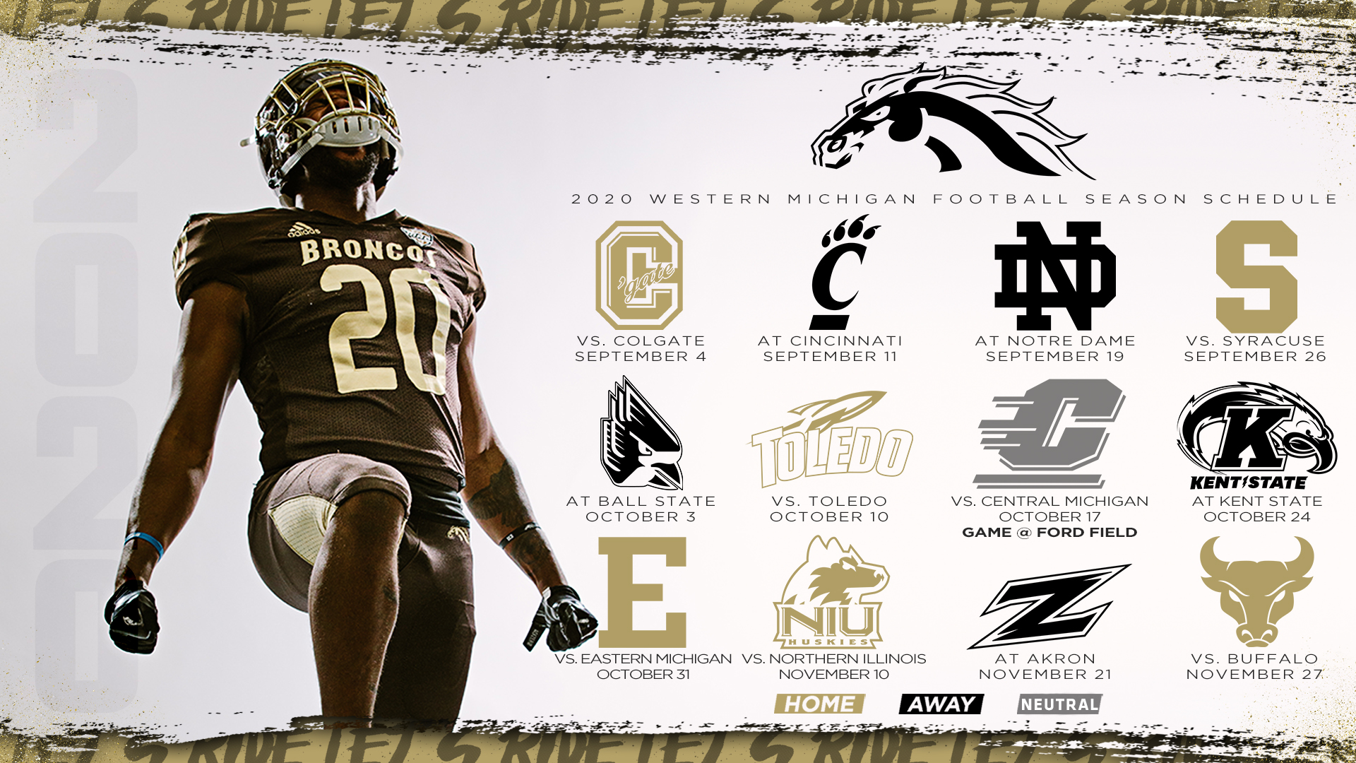 2020 Football Schedule Announced Western Michigan University Athletics